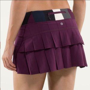 Lululemon Burgundy Pacesetter Skirt, 8